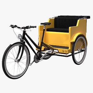 3D pedicab cab model