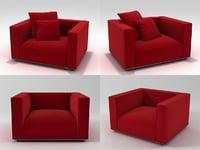 3D shangai armchairs model