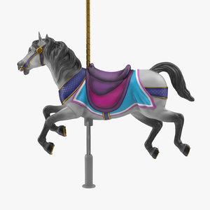 carousel horse v8 3D model