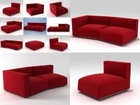 3D shangai sofa model