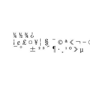 3D symbols2 ms pmincho font