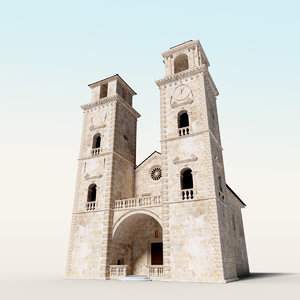 3D model cathedral saint tryphon kotor