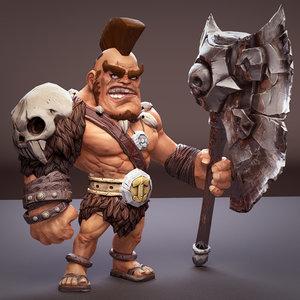 conan rig character 3D model