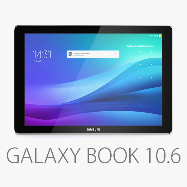 samsung galaxy book 10 3D model