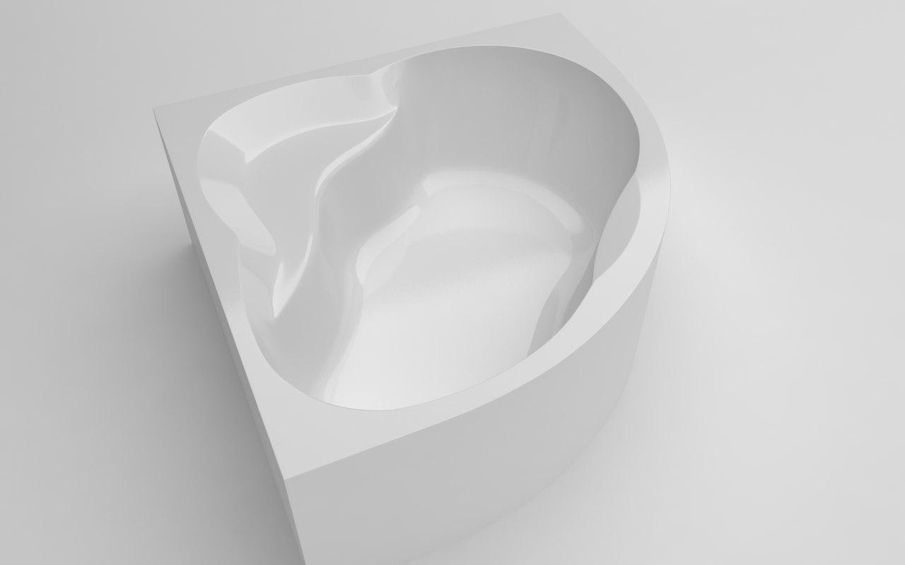 3D model bathtub 140x140x56