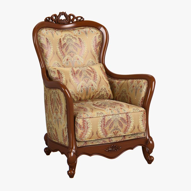 3D model 230-1 carpenter sofa chair