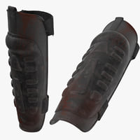 3D bloody police riot gear model