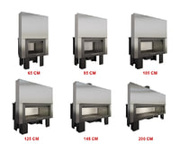 3D model fireplace 6 sizes