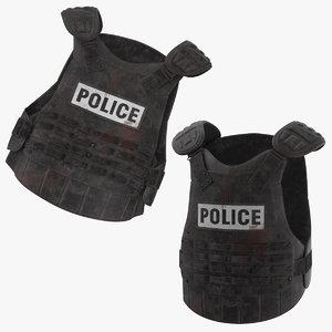 bloody police riot gear 3D model