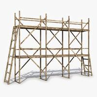 3D old scaffolding model