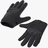 police riot gear glove 3D