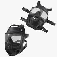 police riot gas helmet 3D