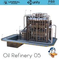 oil refinery 3D