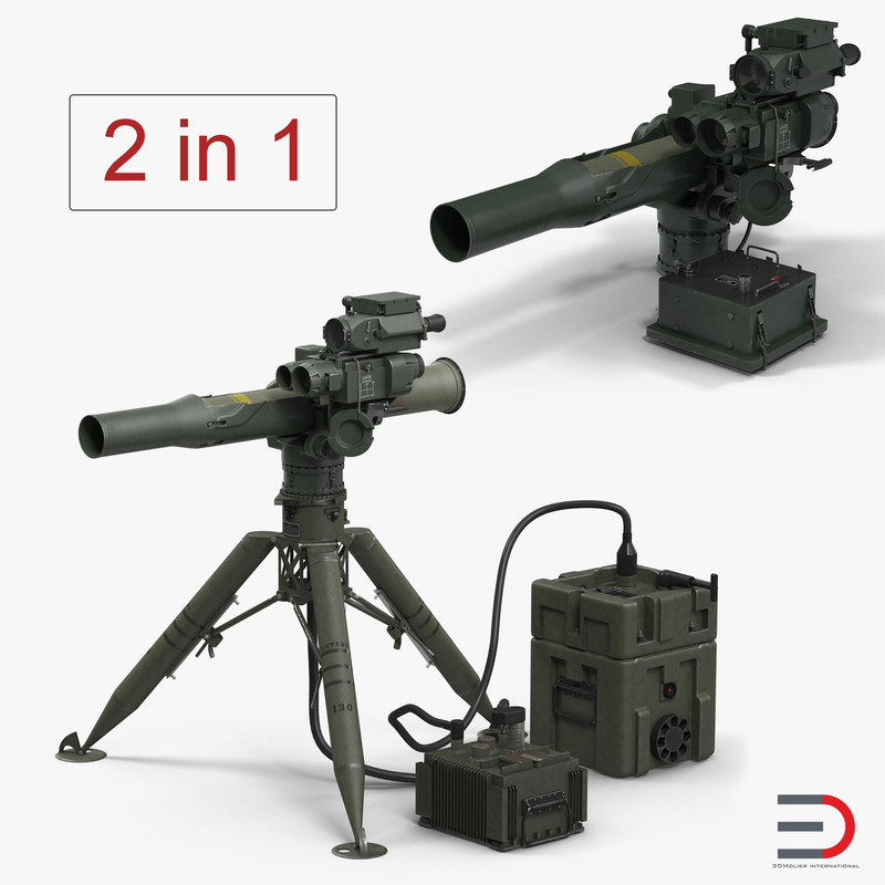 3D bgm-71 tow missile systems model