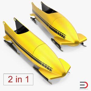 bobsleds set 2 3D