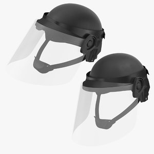 police helmets 2 3D model