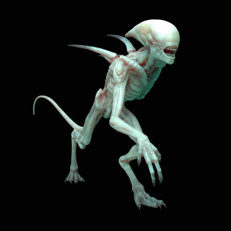 Free alien rig 3D - TurboSquid 1182112