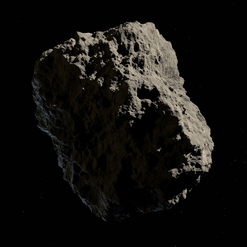 3D asteroids low-poly