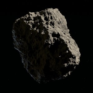 3D asteroids low-poly