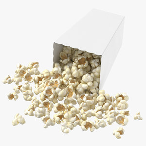 3D movie popcorn box tipped model