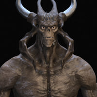 3D model demon rig