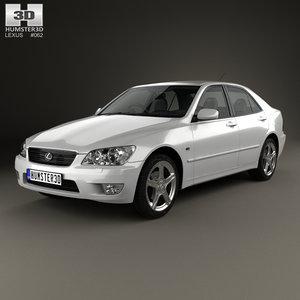 3D lexus xe10 2001