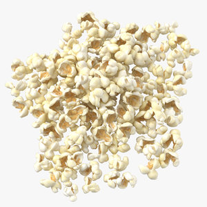 movie popcorn pile - 3D model