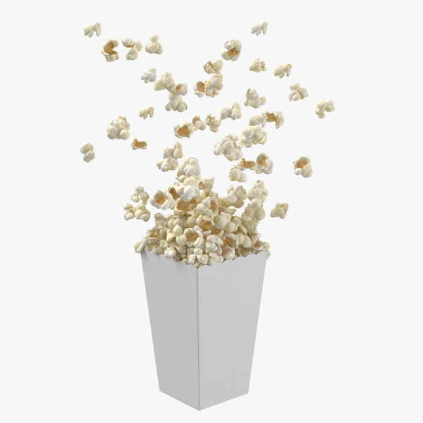 3D movie popcorn popping -