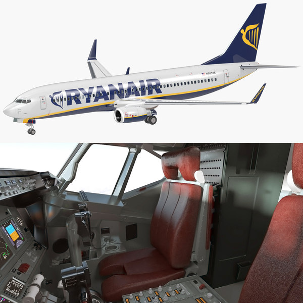 boeing 737-800 interior ryanair model