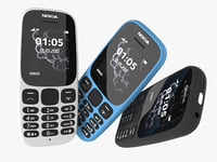 3D nokia 105 2017 colors