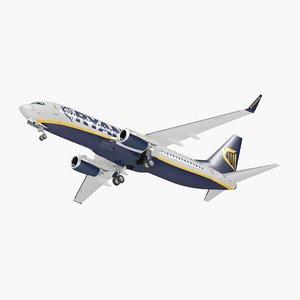 3D boeing 737-800 interior ryanair model
