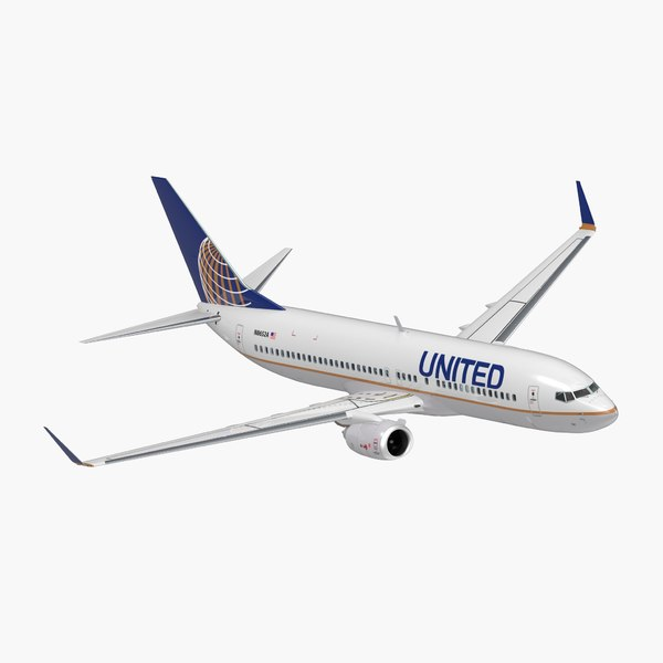 boeing 737-800 interior united airlines 3D model