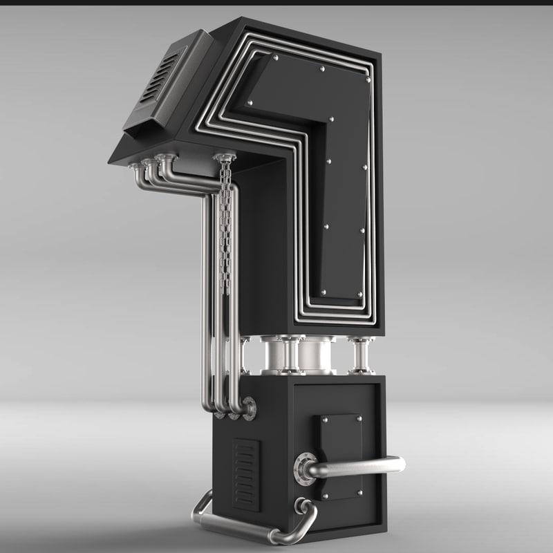 typography 3D model