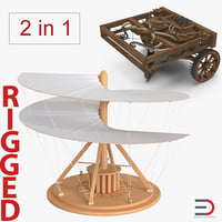 leonardo da vinci rigged 3D model