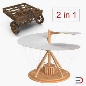 3D leonardo da vinci vehicles