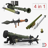 Rocket Launchers with Rockets Collection
