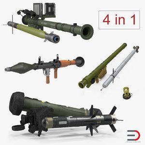 3D rocket launchers