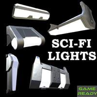 sci fi lights model