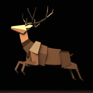 boxy stag rig 3D model