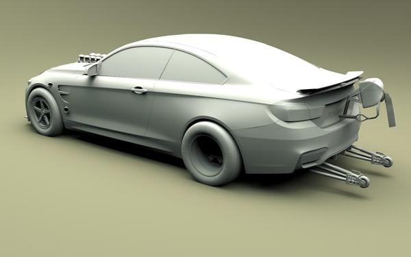3D drifting racing car