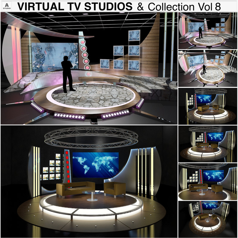 3D virtual tv studio chat