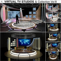 3D virtual tv studio chat