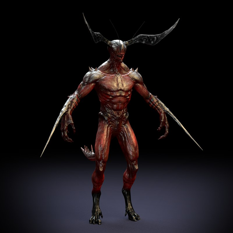 Free demon rig 3D - TurboSquid 1182234