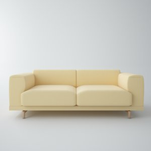 3D rest sofa muuto model