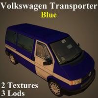 volkswagen blu 3D