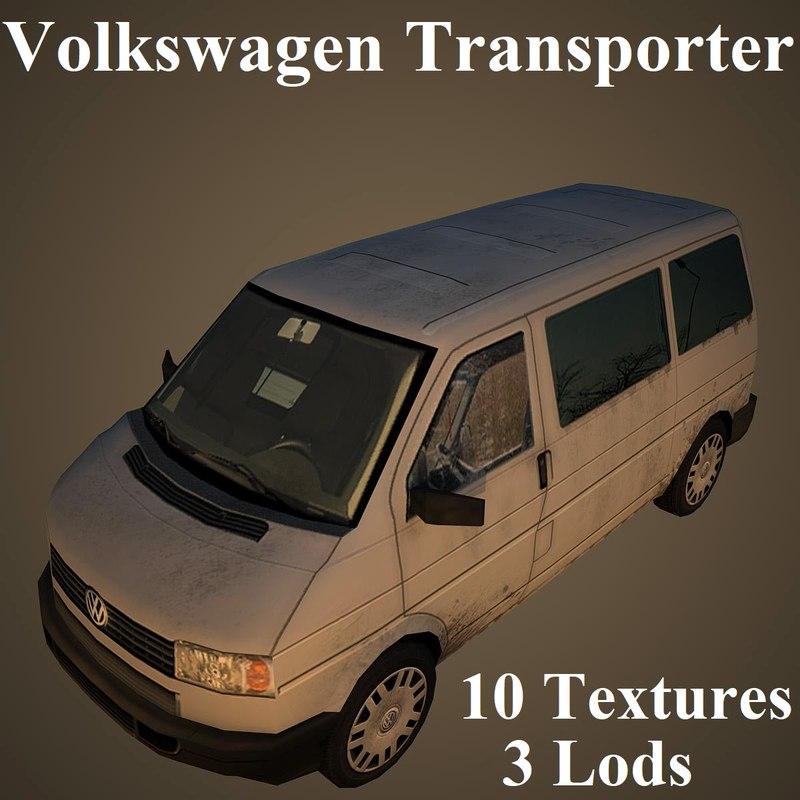 3D volkswagen transporter airport