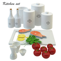 3D kitchen fud set