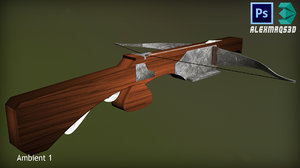 highpoly medieval crossbow model