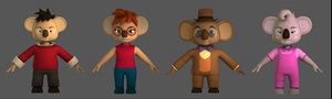 koala family 3D model