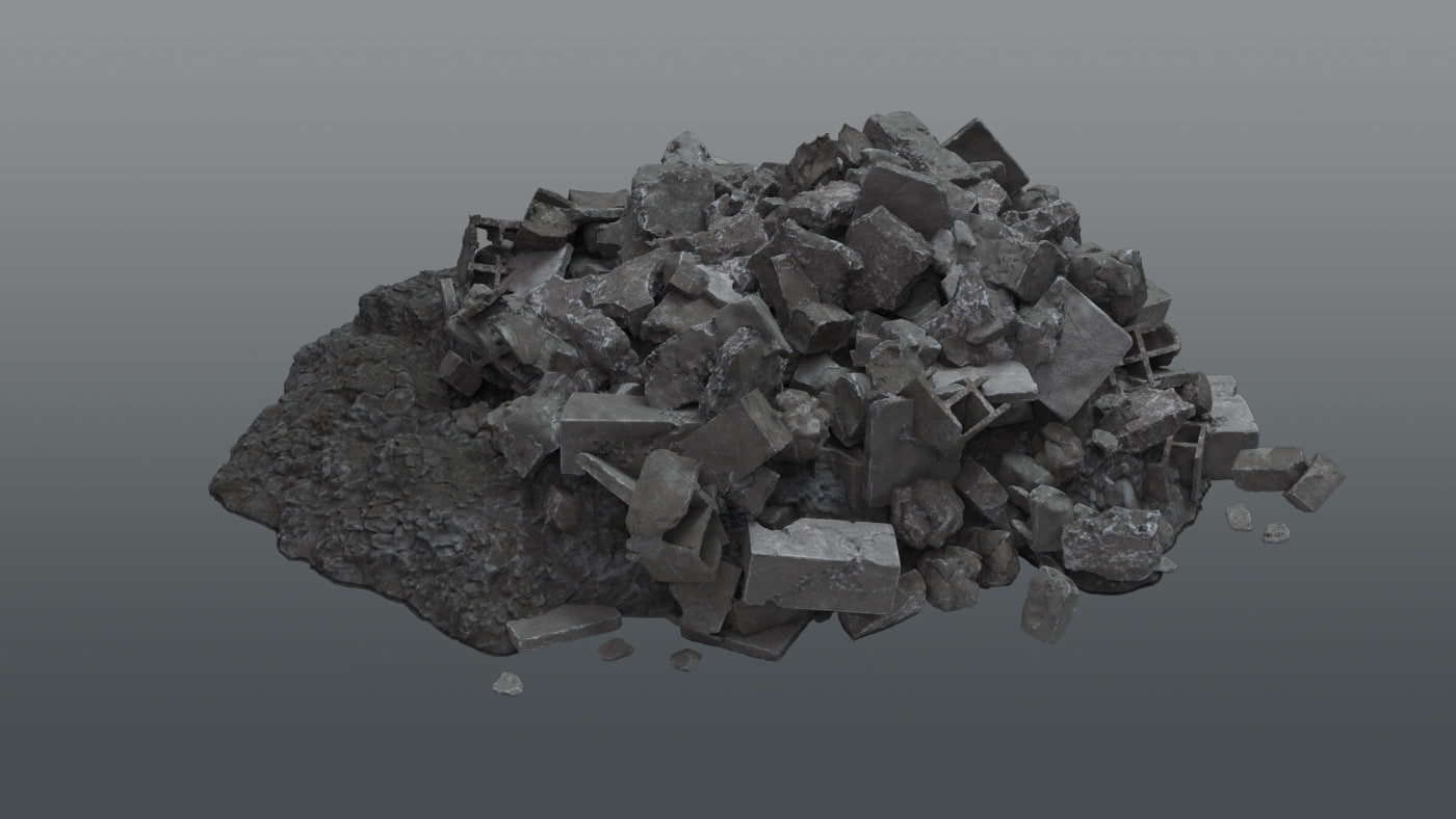 pile rubble debris model